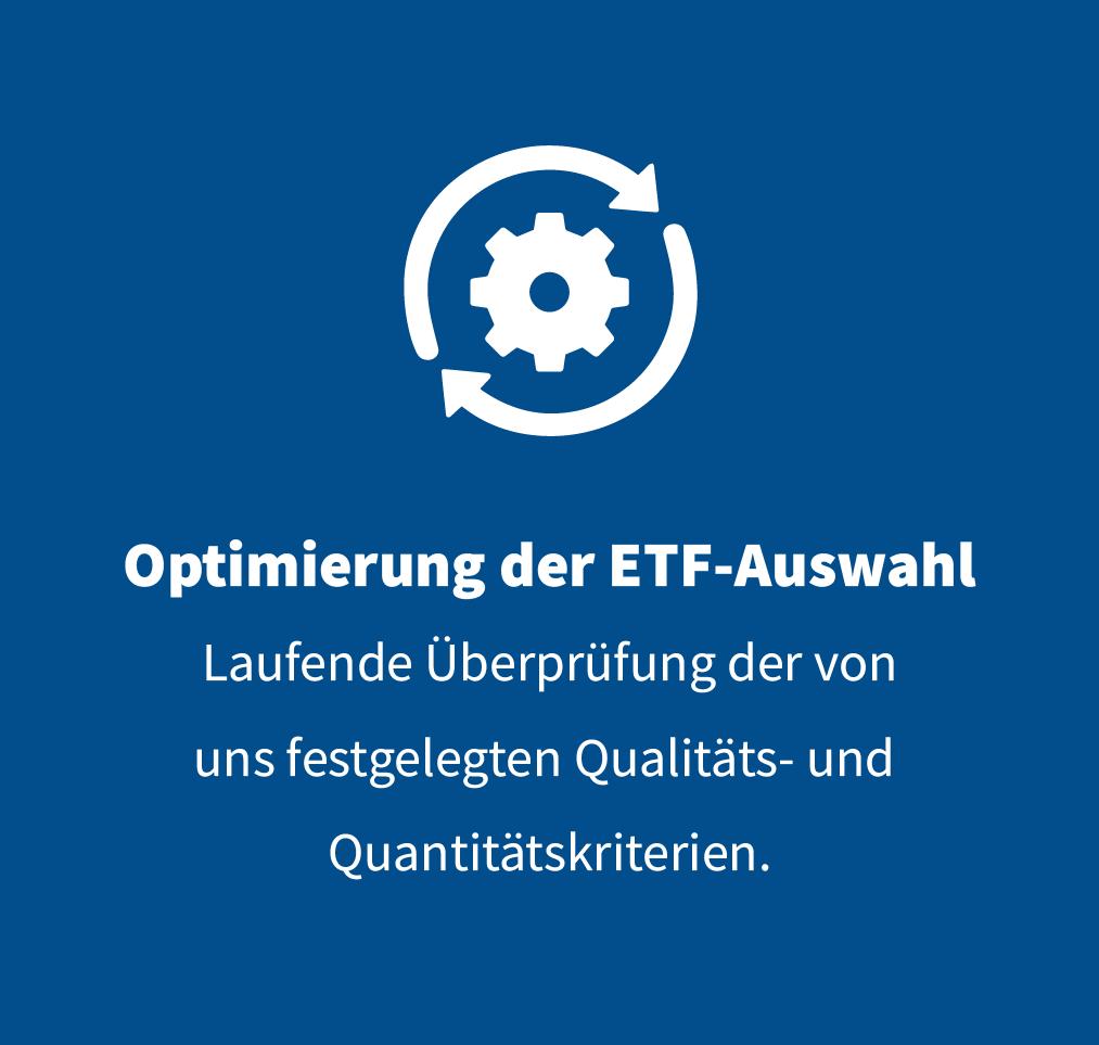Optimierung ETF